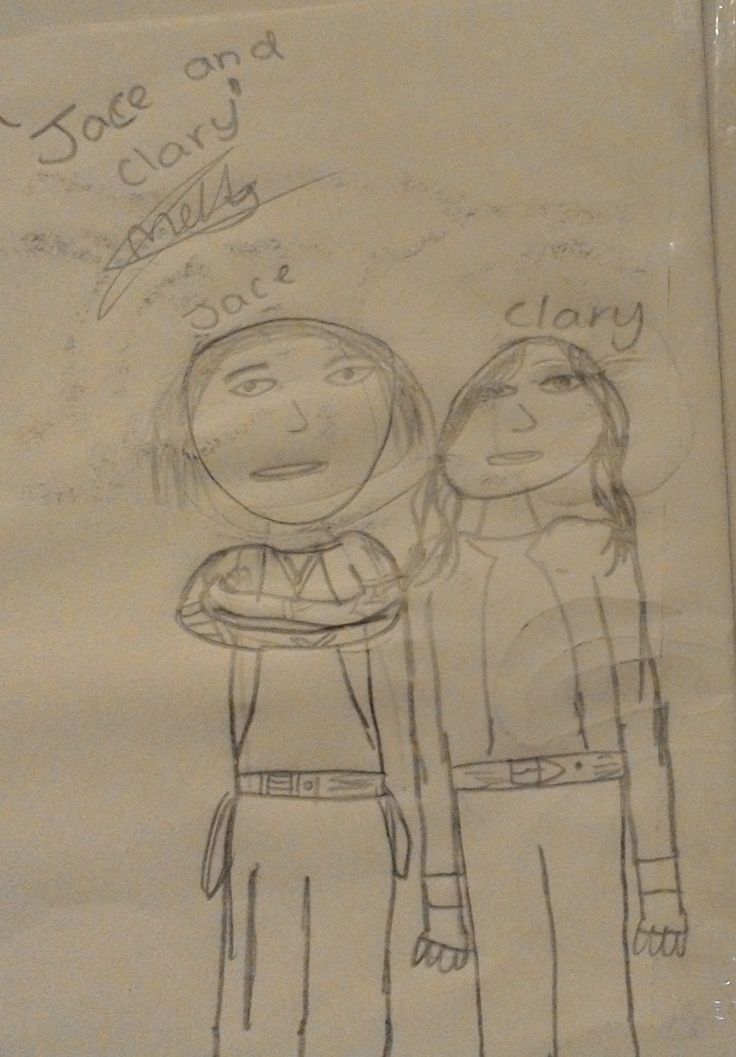 """An Artwork done by Molly_Jane55 """" Clary and Jace"""""""