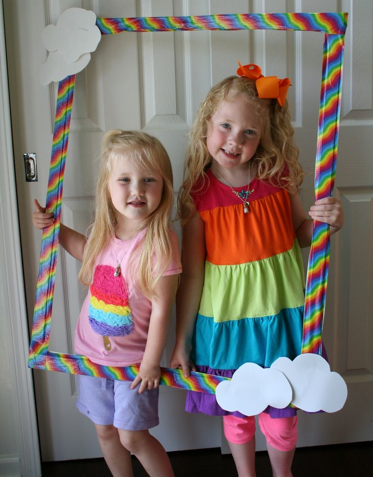 Rainbow Party Photo....fun with duct tape.  This would be so bright and cheery at our winter party!