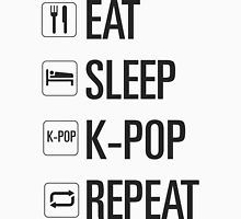 EAT SLEEP KPOP REPEAT  T-shirt Unisexe
