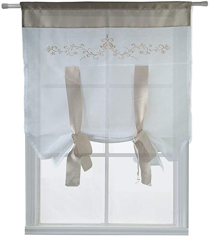 Amazon Com Homeyho Embroidered Curtains For Bedroom Semi Sheer