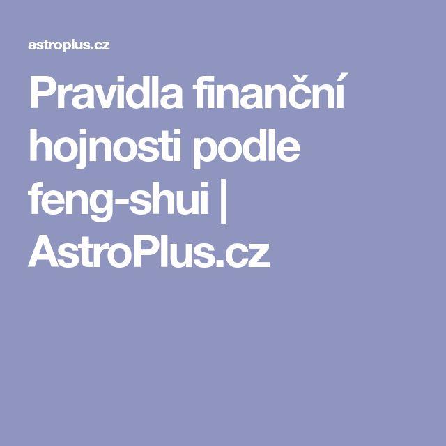 Pravidla finanční hojnosti podle feng-shui | AstroPlus.cz