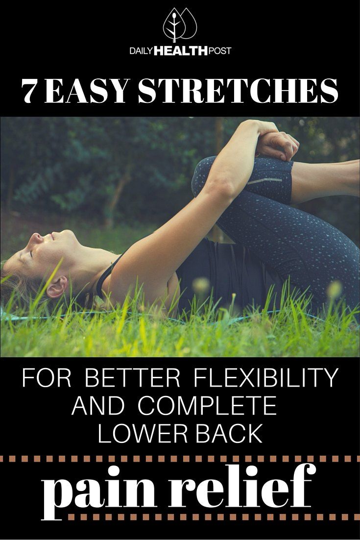 7 Easy strekt zich uit over meer flexibiliteit en betere Compleet Lower Back Pain Relief