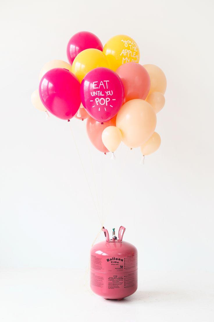 #DIY #Thanksgiving Pun #Balloons