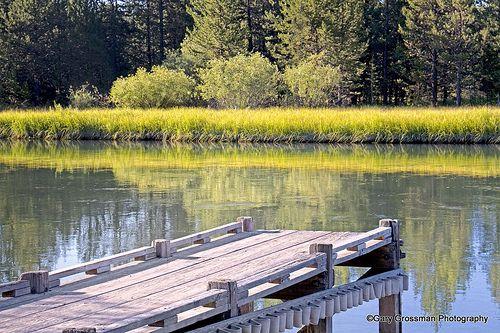 Summertime on the Deschutes River near Sunriver, Oregon.