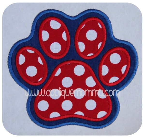 Double Layer Paw Print Applique Design