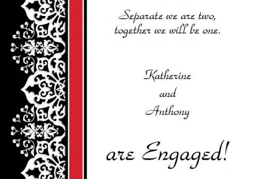 Cloud Nine Engagement Invitation Card