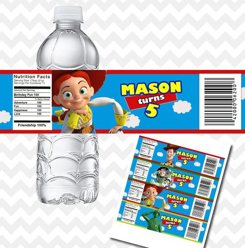 Toy Story Printable Water Bottle Labels for Birthday by PhotoGoof