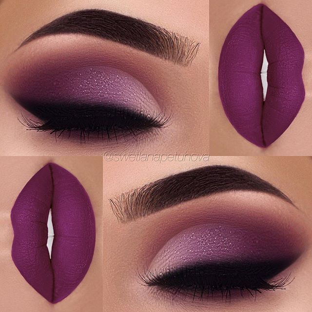"Eyeshadow: @morphebrushes 35P Palette Glitter: @opvlashes pressed glitter Lips: @anastasiabeverlyhills ""Vintage"" Liquid Lipstick"
