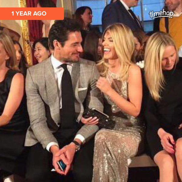 David Gandy & Mollie King 1 year ago at the LDNY Fashion Show and WIE Award Gala sponsored 27th April 2015 by Maserati held at The Goldsmith's Hall, Foster Lane, City of London. A year later he is with a new love Stephanie Mendoros a criminal and family barrister. Team Mollie!