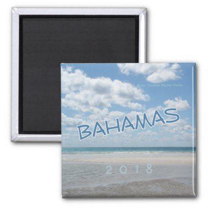 Bahamas Beach Souvenir Fridge Magnet Change Year - home gifts cool custom diy cyo