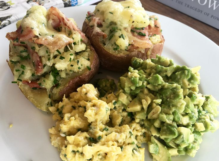 The Ultimate Snack - Bacon Stuffed Cheesy Potatoes With Guac And Scrambled Eggs  - Lovin Dublin