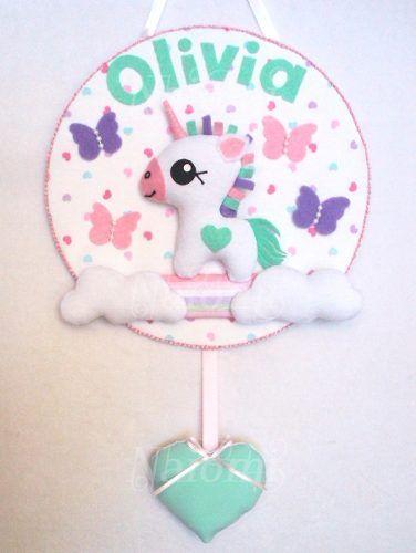 Cartel Nacimiento Bienvenida Sanatorio Bebe Baby Unicornio - $ 350,00