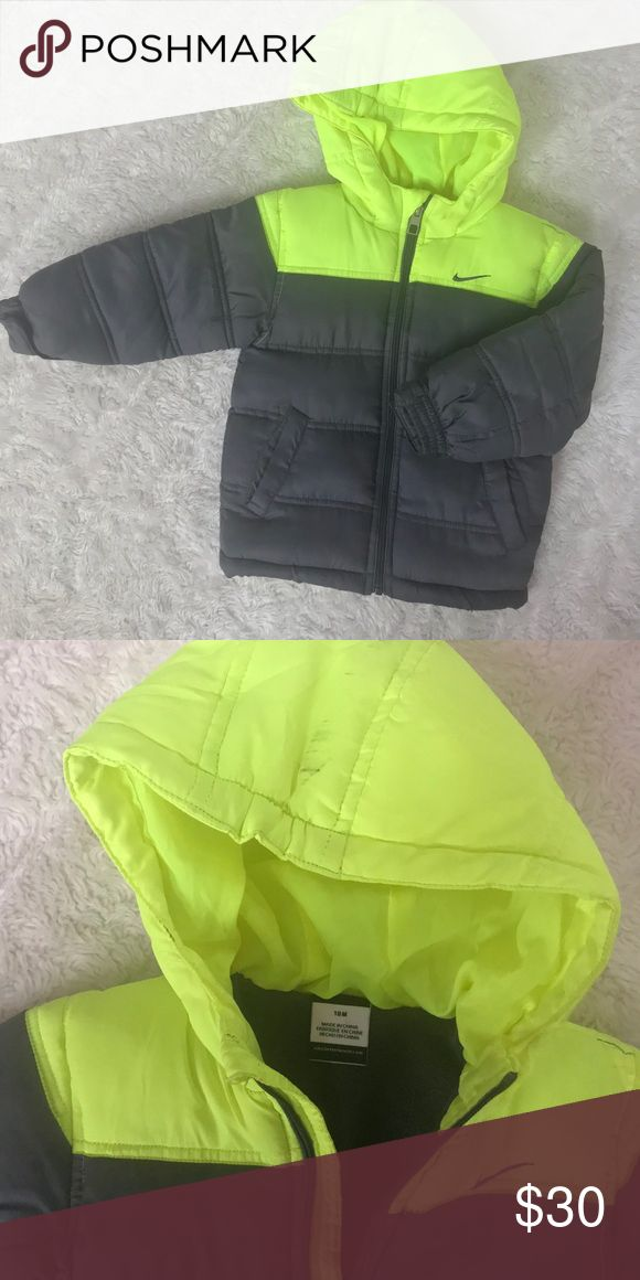 Nike winter jacket ( kids ) Grey and yellow Nike winter coat size 6-12 years Nike Jackets & Coats Puffers