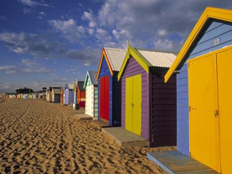 Bathing Huts, Port Phillip Bay, Melbourne, Victoria, Australia