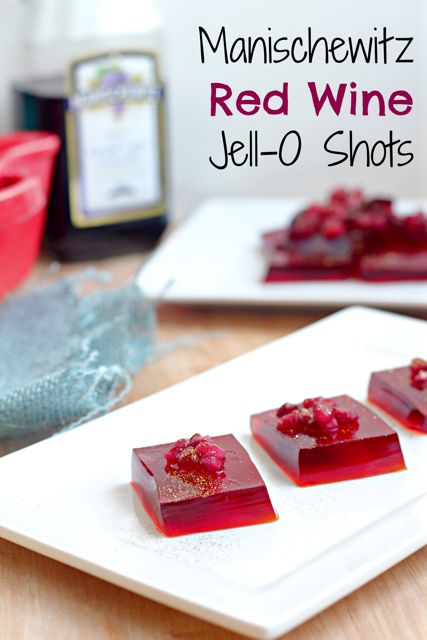 Manischewitz Red Wine Jell-O Shots- the perfect party snack!