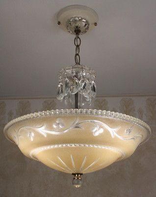love vintage lighting fixtures-could take our old light fixtures and update them with a look like this!