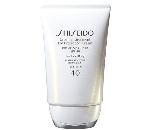 Best Facial Sunscreens: Shiseido Urban Environment UV Protection Cream Broad Spectrum SPF 40