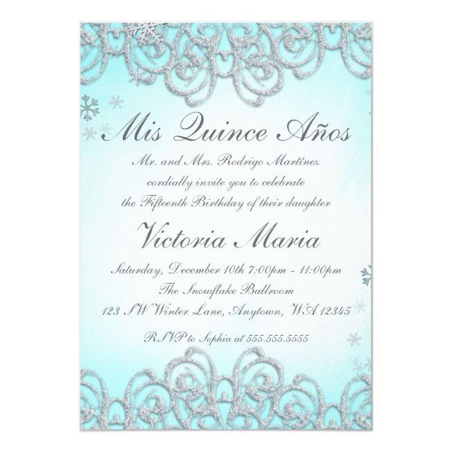 Create Your Own Invitation Zazzle Com Quinceanera Invitations Invitations Winter Wonderland Invitations
