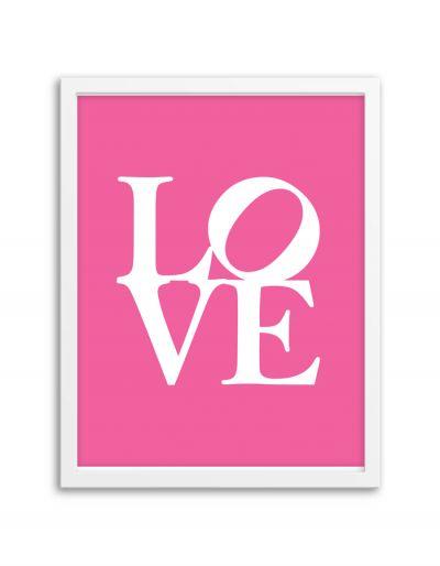 Free Printable Wall Art Love Print from Chicfetti.com
