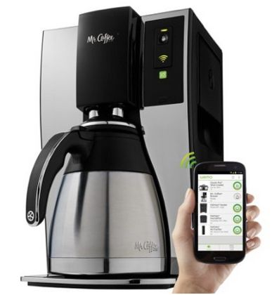 5 gifts for the guy that has everything. - Check out this coffee maker that you can control from your phone!!!