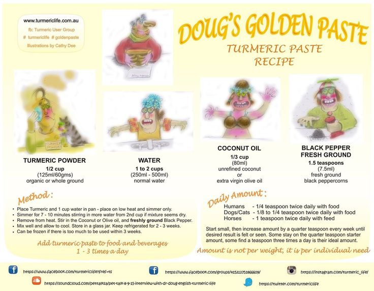 Turmeric Golden Paste - the No 1 recipe created by Doug English & TUG Facebook Group