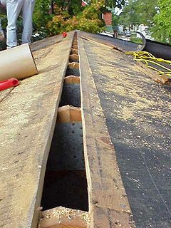installing tar paper on roof-- this would be good on the ck coop, too!!