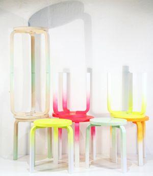 FROSTA kruk   Deze pin repinnen wij om jullie te inspireren! #IKEArepint #IKEA #IKEAnl #DIY #krukje #neon