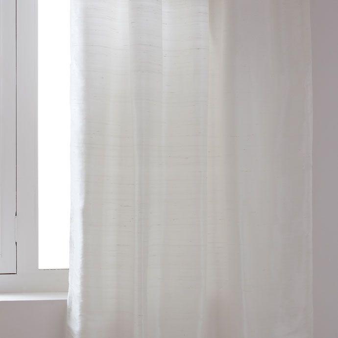 WIT ZIJDEN GORDIJN - Gordijnen - Decoratie | Zara Home Holland