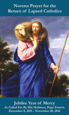 Jubilee Year of Mercy - Prayer for the Return of Lapsed Catholics