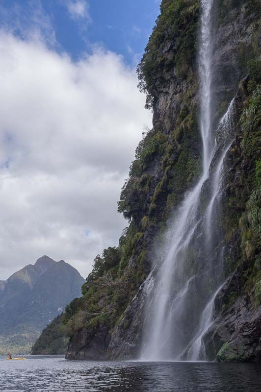 Waterfall in Crooked Arm ~ Doubtful Sound, New Zealand