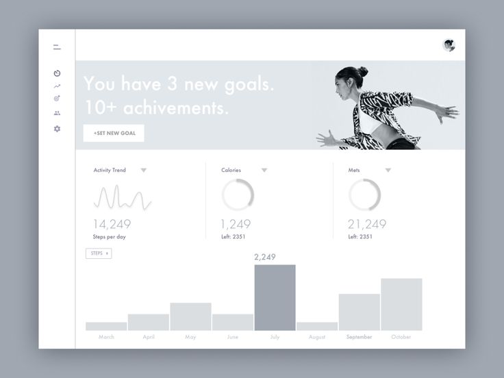 Fitness Dashboard Wire by Michael Pyrkh