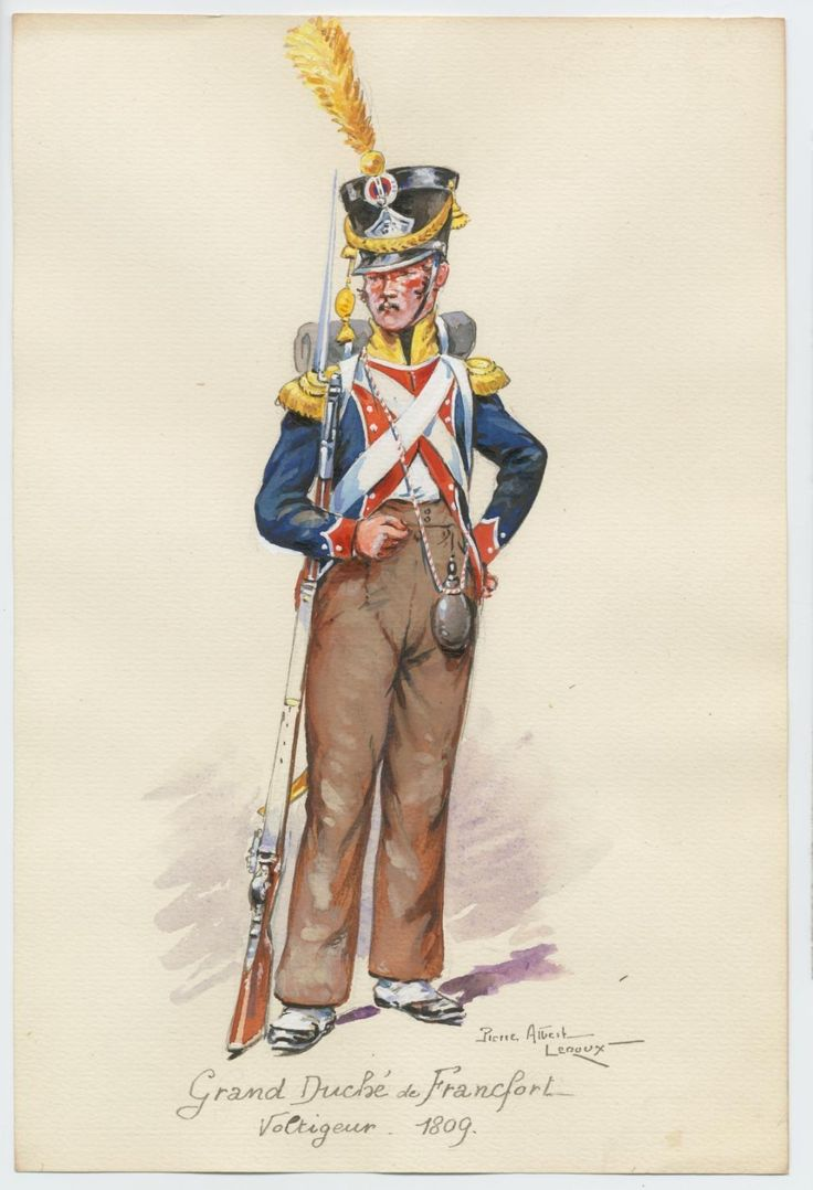 Grand Duchy of Francfort Voltigeur 1809 by P.A.LeRoux