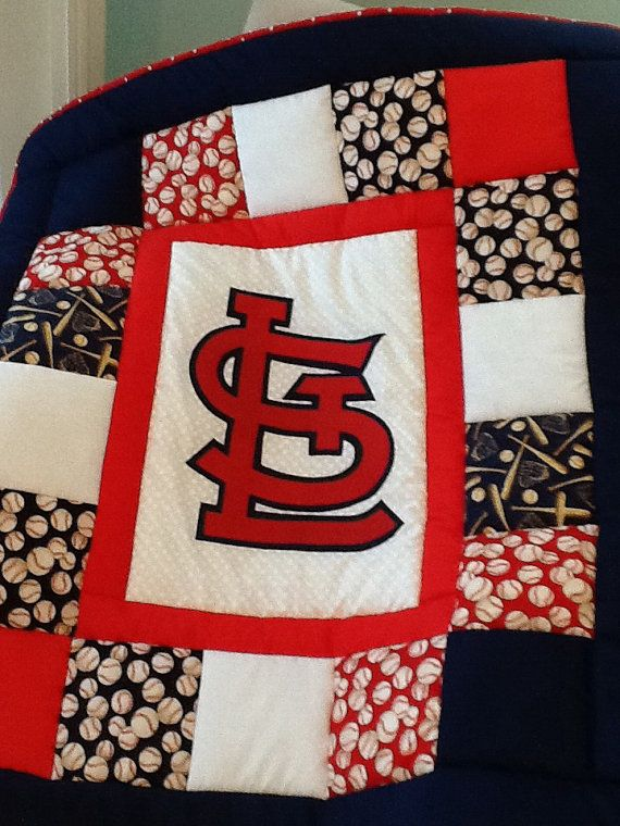 Baseball Baby Quilt patchwork sports quilt Custom by memomslove