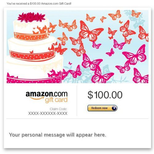 Amazon Gift Card - E-mail - Wedding Butterflies Amazon.com Gift Cards ...