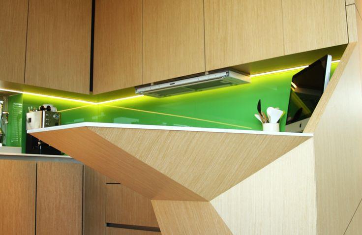 Návrh interiéru, detail kuchynskej linky a pultu - rodinný dom v Starom Meste, Bratislava - Interiérový dizajn / Interior detail by Archilab