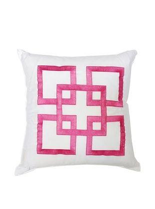 Trina Turk Tiger Leaf Pink Pillow, Pink, 18