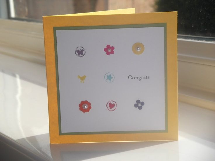 Stampin Up Itty Bitty Bits simple Congrats card