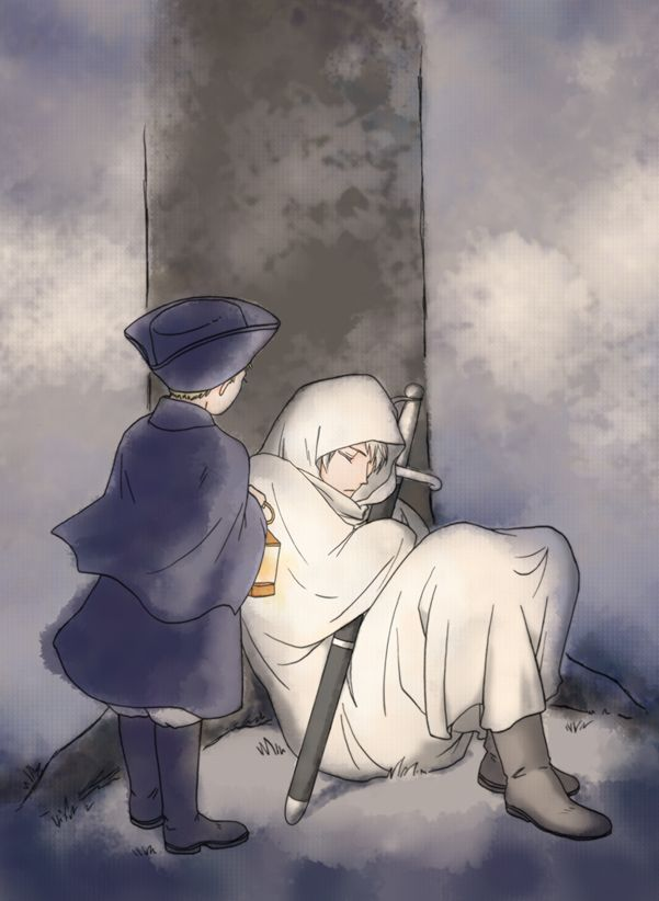Hetalia- HRE and Prussia.