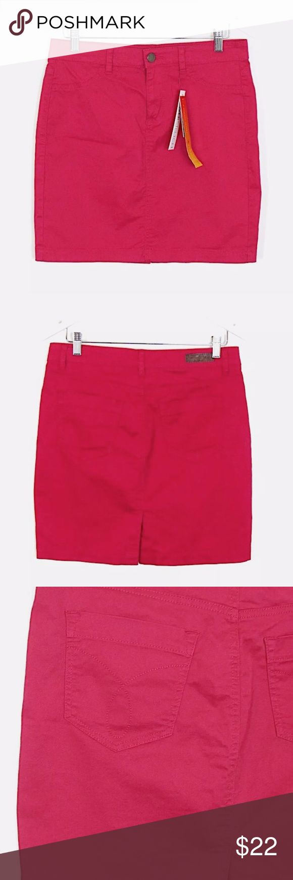"Calvin Klein Jeans Power Stretch Mini Skirt 30/10 Brand:  Calvin Klein Jeans Style:  Power Stretch mini skirt, back pockets Size:  30/10 Color/Pattern: raspberry pink   Material:  97% cotton, 3% spandex Measurements taken flat:  -Waist: 16"" -Length: 18""  Garment Care:Machine wash, tumble dry Condition: New with tags. See pictures for details. Calvin Klein Jeans Skirts Mini"
