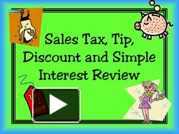 Tax Problems Algebra Sales Tax Problems