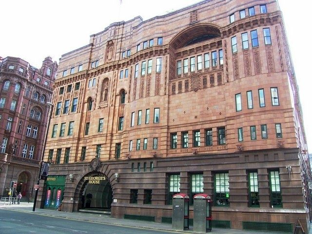 """""""St Georges House, Peter Street (ex YMCA building)"""" by Stan Walker at PicturesofEngland.com"""