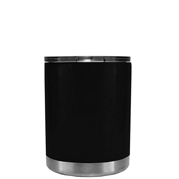 Rtic Black Matte 10 Oz Stainless Steel Lowball Tumbler Cup Review Tumbler Cups Tumbler Stainless