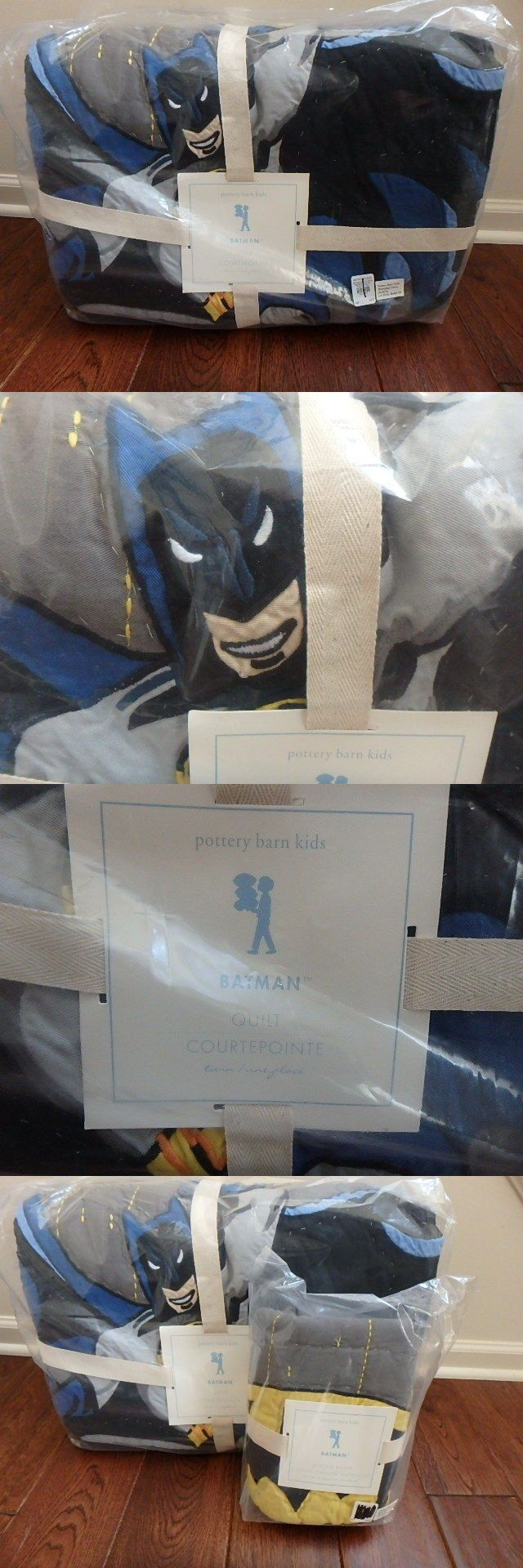 Kids Bedding: Pottery Barn Kids Pbk Batman Twin Quilt And Matching Standard Sham New 2 Piece Set BUY IT NOW ONLY: $129.99