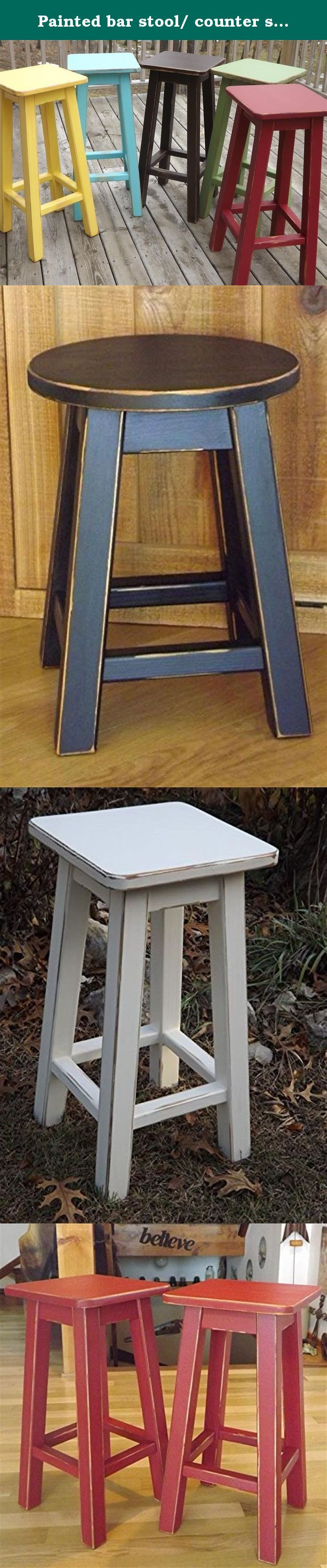 1000 Ideas About Painted Bar Stools On Pinterest Stool