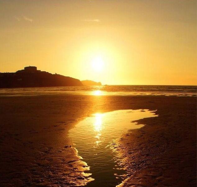 Sunset at Towan Beach, Newquay, Cornwall. - Love Newquay