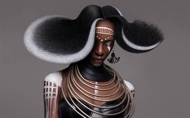 Η δύναμη και η ομορφιά της αφρικανικής κουλτούρας απεικονίζεται στα εντυπωσιακά χτενίσματα των βρετανικών βραβείων για τα μαλλιά. Η δημιουργός