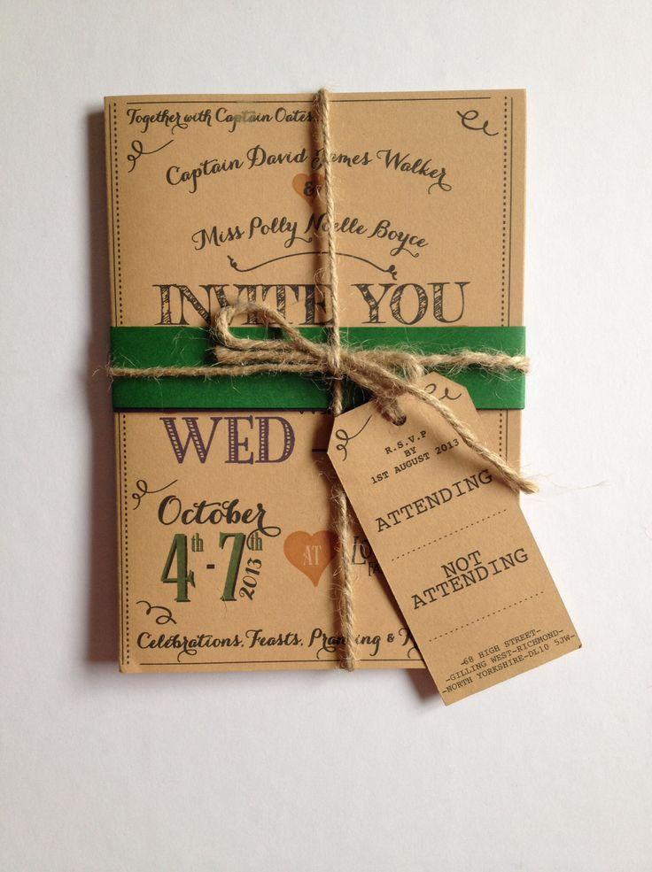 Wed-Fest: autumnal wedding invites for Scottish country beach wedding