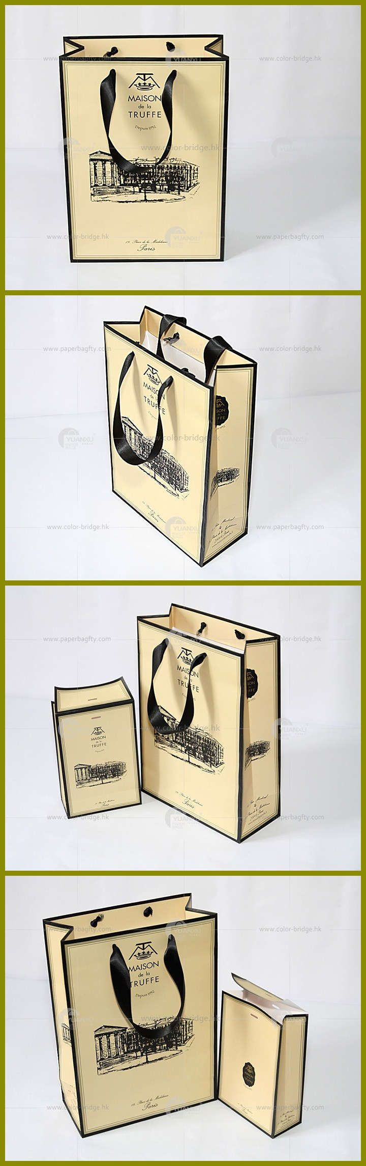Luxury shopping paper bag for Russia famous brand