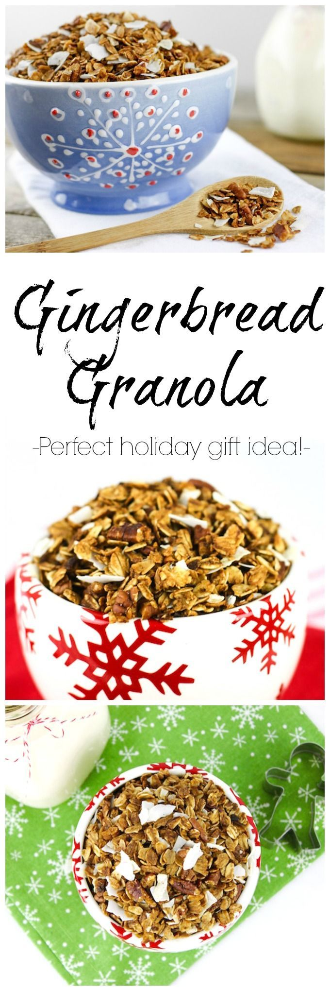 This Gingerbread Granola recipe is everything you love about gingerbread transformed into a crunchy and satisfying granola suitable for breakfast  snacking and edible holiday gifts