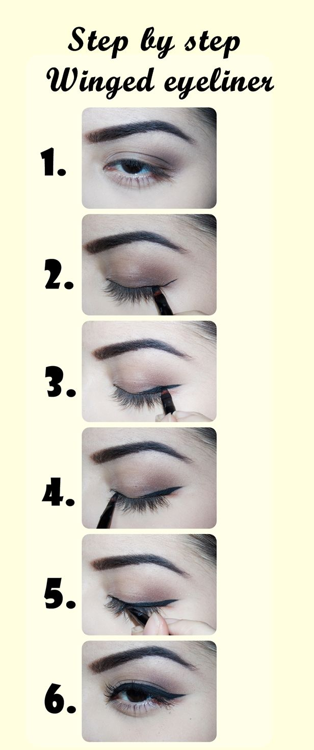 Winged Liner Step by step for begginers